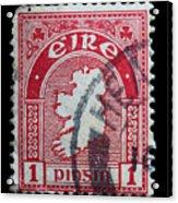 Irish Postage Stamp Acrylic Print