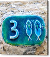 Jaffa, Pisces Zodiac Street Sign  Acrylic Print