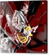 Joe Bonamassa Blue Guitarist Art Acrylic Print