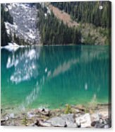 Joffre Lake Middle B.c Canada Acrylic Print