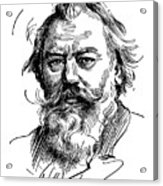 Johannes Brahms 1833-1897 Acrylic Print