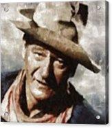 John Wayne Hollywood Actor Acrylic Print