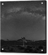 Joshua Tree Milky Way Panorama  Acrylic Print