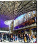 Kings Cross Rail Station London Acrylic Print