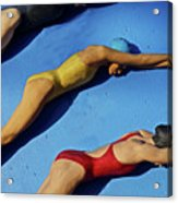 3 Lady Swimmers Acrylic Print