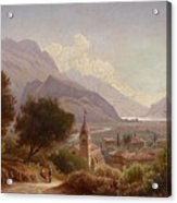 Landscape In Upper Italy Acrylic Print