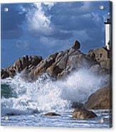 Lighthouse On The Coast, Pontusval Acrylic Print