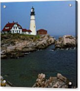 Lighthouse - Portland Head Maine Acrylic Print by Frank Romeo