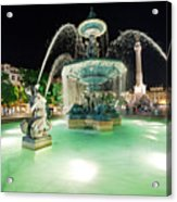 Lisbon By Night Acrylic Print