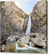 Lower Yosemite Fall In The Famous Yosemite Acrylic Print
