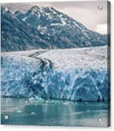Magnificent Sawyer Glacier At The Tip Of Tracy Arm Fjord Acrylic Print