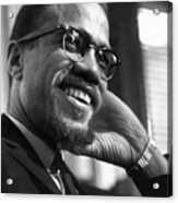 Malcolm X (1925-1965) Acrylic Print by Granger