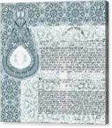 Mandala Ketubah- Ready To Fill Acrylic Print