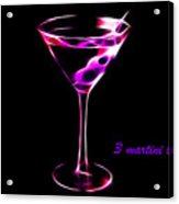 3 Martini Lunch Acrylic Print by Wingsdomain Art and Photography
