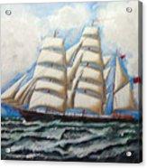 3 Master Tall Ship Acrylic Print