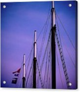 3 Masts In Halifax Acrylic Print