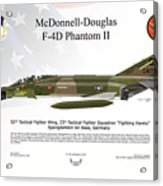 Mcdonnell Douglas F-4d Phantom II Acrylic Print