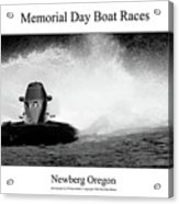 Memorial Day Boat Races Acrylic Print