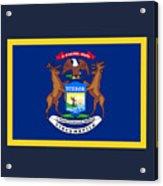 Michigan Flag Acrylic Print