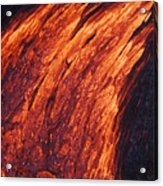Molten Pahoehoe Lava Acrylic Print