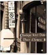 Montreal Street Scene Acrylic Print