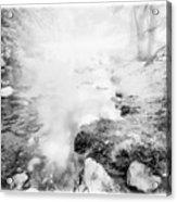 Mountain Stream In Summer Mist Acrylic Print