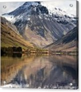 Mountains And Lake, Lake District Acrylic Print by John Short