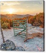 Mushroom Rock Phenomenon At Sunset Acrylic Print