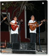 Musicians In The Park Candelaria In Valladolid Acrylic Print