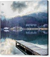 Nature Around Lake Lure Chimney Rock And Broad River North Carol Acrylic Print