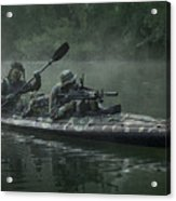 Navy Seals Navigate The Waters Acrylic Print