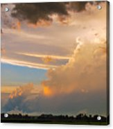 Nebraska Hp Supercell Sunset Acrylic Print