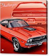 Dodge Challenger 1970 R/t Acrylic Print