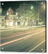 Newport Rhode Island City Streets In The Evening Acrylic Print