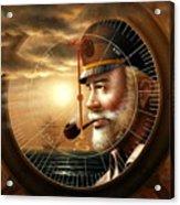 News  Map Captain 1 Or  Sea Captain Acrylic Print