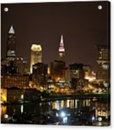 Nightlife In Cleveland Acrylic Print