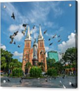 Notre-dame Cathedral Basilica Of Saigon, Officially Cathedral Basilica Of Our Lady Of The Immaculate Acrylic Print