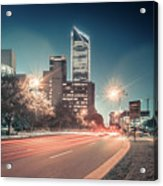 November, 2017, Charlotte, Nc, Usa - Early Morning In The City O Acrylic Print