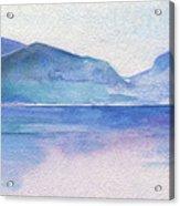 Ocean Watercolor Hand Painting Illustration. Acrylic Print