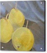 3 Pears Acrylic Print by Crispin  Delgado