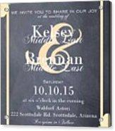Personalized Wedding Invitation Acrylic Print