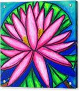 3 Pink Gems Acrylic Print