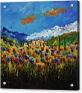 Poppies In Tuscany  Acrylic Print