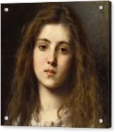 Portrait Of A Young Girl Alexei Alexeivich Harlamoff Acrylic Print