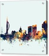 Portsmouth England Skyline Acrylic Print