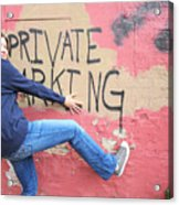 Private Parking. Acrylic Print
