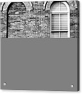 3 Quaters Black And White Acrylic Print