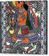 Radha Krishna Color Acrylic Print