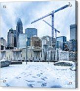 Rare Winter Weather In Charlotte North Carolina Acrylic Print
