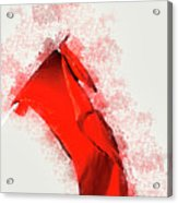 Red Flag On Black Background Acrylic Print